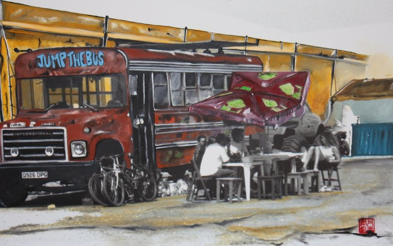 jump the bus 135€ 60 X 40 cm