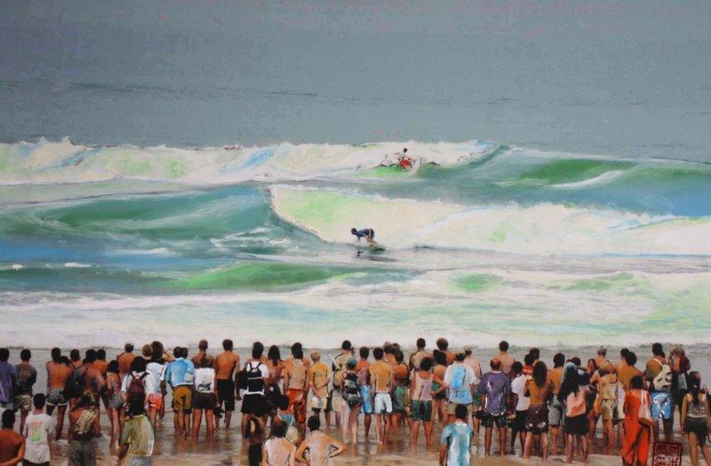 surf contest hossegor 60 X 40 cm